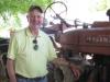 Linus Hoffmeister with \'51 International Harvester Tractor