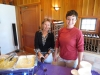 Jane and Natalie of Shady Lane Cellars with sacchettini carbonara paired with 2010 Franc n\' Franc.   Natalie is engaged to Traverse City chef David Slater who prepared the pasta.
