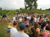 The finish line at Ciccone Vineyards