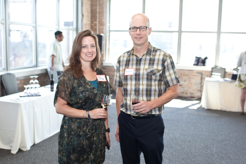 Kelly Kniewel, co-owner, Fresh Coast Distributors and Mark Ganchiff, publisher, Midwest Wine Press