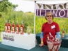 Ruth Ballowe of Ottawa sells a blush wine made especially for Vintage Illinois