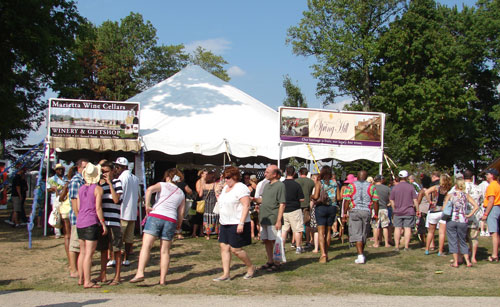 Lines for the Winery Tents at Vintage Ohio, August 3rd and 4th